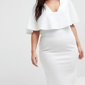 ASOS Curve Cape Plunge Bodycon Dress